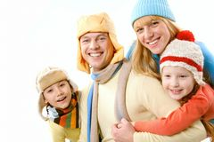 οικογενειακός χειμώνα&sig στοκ εικόνα με δικαίωμα ελεύθερης χρήσης
