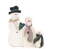 οικογενειακός χιονάνθρωπος Στοκ εικόνες με δικαίωμα ελεύθερης χρήσης