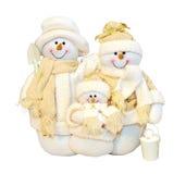 οικογενειακός χιονάνθ&rho Στοκ εικόνα με δικαίωμα ελεύθερης χρήσης