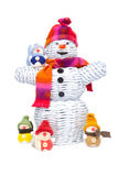 οικογενειακός χιονάνθ&rho Ελεύθερη απεικόνιση δικαιώματος