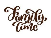Οικογενειακός χρόνος - συρμένη χέρι διανυσματική εγγραφή που απομονώνεται στο λευκό r Χειρόγραφος σύγχρονος Στοκ φωτογραφία με δικαίωμα ελεύθερης χρήσης