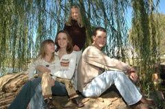 οικογενειακός χρόνος Στοκ Εικόνες