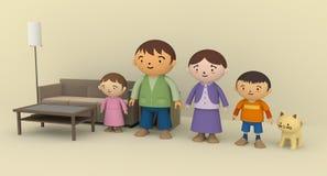 οικογενειακός χρόνος απεικόνιση αποθεμάτων