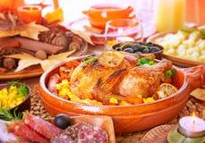 Οικογενειακό γεύμα ημέρας των ευχαριστιών Στοκ Φωτογραφία