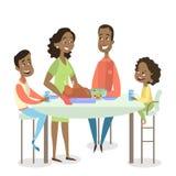 Οικογενειακό γεύμα με την Τουρκία ελεύθερη απεικόνιση δικαιώματος