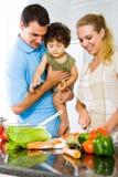 Οικογενειακό γεύμα στοκ εικόνες με δικαίωμα ελεύθερης χρήσης