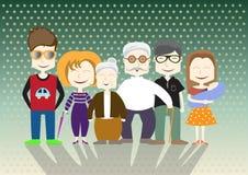 Οικογενειακό γραφικό σχέδιο, απεικόνιση Στοκ Φωτογραφίες