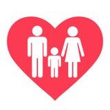 Οικογενειακό εικονίδιο καρδιών διανυσματική απεικόνιση