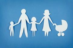 οικογενειακό ευτυχές έγγραφο στοκ εικόνες
