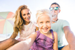 οικογενειακό ευτυχές πορτρέτο Στοκ Εικόνες
