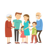 οικογενειακό ευτυχές πορτρέτο Στοκ φωτογραφία με δικαίωμα ελεύθερης χρήσης