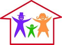 οικογενειακό ευτυχές  απεικόνιση αποθεμάτων