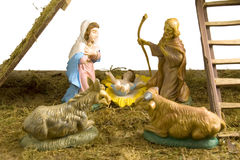 οικογενειακό ιερό nativity στοκ φωτογραφία