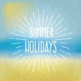 οικογενειακό καλές διακοπές καλοκαίρι σας Στοκ Εικόνα