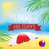 οικογενειακό καλές διακοπές καλοκαίρι σας Στοκ Εικόνες