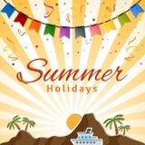 οικογενειακό καλές διακοπές καλοκαίρι σας διανυσματική απεικόνιση
