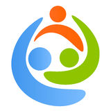 οικογενειακό λογότυπο διανυσματική απεικόνιση