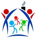 οικογενειακό λογότυπ&omic Στοκ φωτογραφία με δικαίωμα ελεύθερης χρήσης