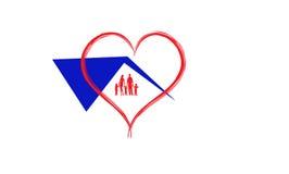 Οικογενειακό λογότυπο σπιτιών ελεύθερη απεικόνιση δικαιώματος