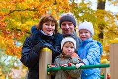 οικογενειακό πάρκο φθιν στοκ εικόνα