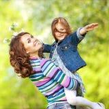 οικογενειακό πάρκο στοκ φωτογραφίες με δικαίωμα ελεύθερης χρήσης