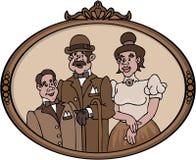 οικογενειακό παλαιό πορτρέτο Ελεύθερη απεικόνιση δικαιώματος