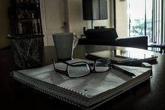 Οικογενειακό περιβάλλον για τη μελέτη/την εργασία Στοκ φωτογραφία με δικαίωμα ελεύθερης χρήσης