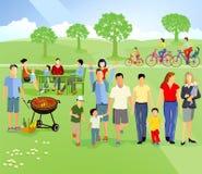 Οικογενειακό πικ-νίκ διανυσματική απεικόνιση
