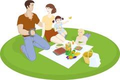 Οικογενειακό πικ-νίκ * Στοκ φωτογραφία με δικαίωμα ελεύθερης χρήσης