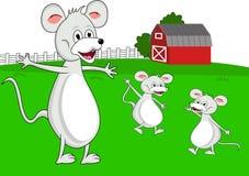 οικογενειακό ποντίκι κινούμενων σχεδίων Στοκ Εικόνες