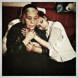 Οικογενειακό πορτρέτο Grunge Στοκ εικόνα με δικαίωμα ελεύθερης χρήσης