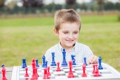 Οικογενειακό σκάκι Στοκ Φωτογραφία