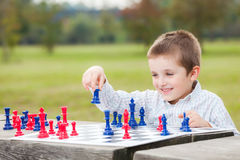 Οικογενειακό σκάκι Στοκ φωτογραφία με δικαίωμα ελεύθερης χρήσης