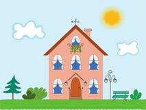 οικογενειακό σπίτι Στοκ εικόνες με δικαίωμα ελεύθερης χρήσης