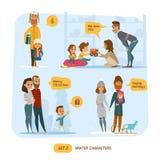 Οικογενειακό σύνολο Στοκ φωτογραφίες με δικαίωμα ελεύθερης χρήσης