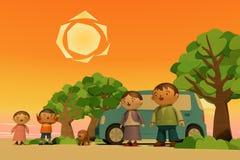 οικογενειακό ταξίδι ελεύθερη απεικόνιση δικαιώματος