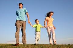 οικογενειακό τρέξιμο Στοκ Φωτογραφία