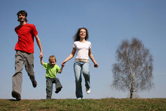 οικογενειακό τρέξιμο Στοκ εικόνα με δικαίωμα ελεύθερης χρήσης