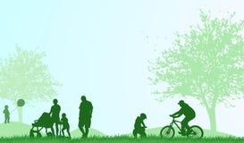 Οικογενειακό υπαίθρια καλοκαίρι διανυσματική απεικόνιση