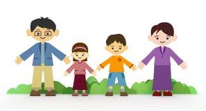 οικογενειακό χαμόγελ&omicro απεικόνιση αποθεμάτων