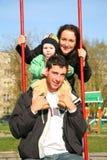 οικογενειακό seesaw Στοκ φωτογραφία με δικαίωμα ελεύθερης χρήσης