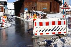 Οικοδομές σε μια οδό στην πόλη Στοκ εικόνα με δικαίωμα ελεύθερης χρήσης