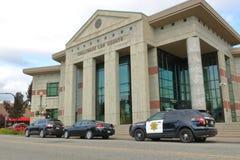 Οικοδόμηση δικαστηρίων νόμου Chilliwack στοκ εικόνες