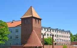 Οικοδόμηση ενός γυμνασίου Jesuits και του παρατηρητηρίου Braniewo, POL στοκ φωτογραφία