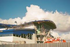 Οικοδόμηση κάτω από την κατασκευή τονισμένος Στοκ Εικόνες