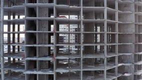Οικοδόμηση κτηρίου Συγκεκριμένη δομή Μονολιθική κατασκευή πλαισίων απόθεμα βίντεο