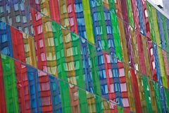 Οικοδόμηση με τα πολυ χρωματισμένα παράθυρα γυαλιού Στοκ Εικόνες