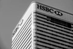 Οικοδόμηση της HSBC στο Canary Wharf - ΛΟΝΔΙΝΟ - ΜΕΓΑΛΗ ΒΡΕΤΑΝΊΑ - 19 Σεπτεμβρίου 2016 Στοκ φωτογραφία με δικαίωμα ελεύθερης χρήσης