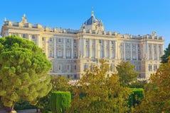 Οικοδόμηση της Royal Palace στη Μαδρίτη Palacio πραγματικό de Μαδρίτη Στοκ Εικόνα