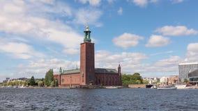 Οικοδόμηση του Δημαρχείου στη Στοκχόλμη, Σουηδία απόθεμα βίντεο